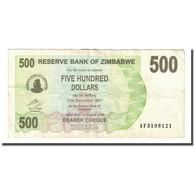 Billet, Zimbabwe, 500 Dollars, 2006-08-01, KM:43, TTB - Zimbabwe