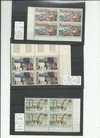 Cameroun, YT P.A. N° 49, 50b, 51a Neufs*** Blocs De 4 Avec Variétés, Cote 477€ - Cameroun (1960-...)