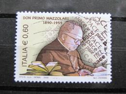 *ITALIA* USATI 2009 - DON PRIMO MAZZOLARI - SASSONE 3077- LUSSO/FIOR DI STAMPA - 6. 1946-.. Repubblica