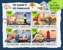 Togo  2018 Lighthouses And Shells    S201901 - Togo (1960-...)
