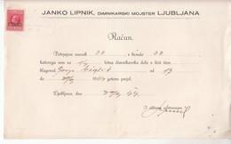 3852   PROVINCIA   DI LUBIANA  DOKUMENT - Slovenia