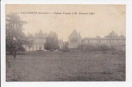 CPA 06 SALLEBOEUF Chateau Vacquey à M.Edouard Eifel - France