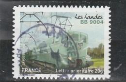 FRANCE 2014 ISSU DU CARNET VOYAGE EN TRAIN OBLITERE A DATE SUR FRAGMENT YT 1007 - France