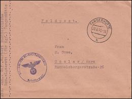 Feldpost Reserve-Lazarett Für Kriegsgefangene TANGERHÜTTE 29.8.41 N. Goslar - Besetzungen 1938-45