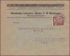 Danzig 145 Staatswappen 1000 Mark Auf Brief DANZIG 8.8.1923 Nach Oberweimar - Danzig