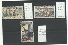 Cameroun, YT P.A. N° 49, 50, 51 Neufs***  Cote 70€ - Cameroun (1960-...)