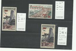 Cameroun, YT P.A. N° 50b 51, 51a Neufs***  Cote 146€50 - Cameroun (1960-...)