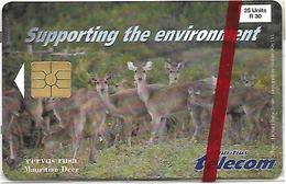 @+ Ile Maurice - Mauritian Deer - 25 Units (1998 - 30 000ex) - NSB - La Première Carte à Puce ! - Maurice