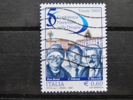 *ITALIA* USATI 2009 - CONFERENZA SULLE DROGHE - SASSONE 3073- LUSSO/FIOR DI STAMPA - 6. 1946-.. Repubblica