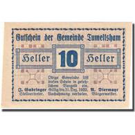 Billet, Autriche, Tumeltsham, 10 Heller, Valeur Faciale 1920-12-31 SPL FS 1085Ib - Autriche