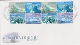 Australian Antarctic Territory 2012 Landscapes Icebergs,Davis Base,2 Blocks FDC - FDC