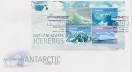 Australian Antarctic Territory 2012 Landscapes Icebergs,Miniature Sheet, FDC - FDC