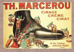 Product Postcard Th.Marcerou Cirage-créme-cirat Levallois-Perret - Reproduction - Publicité