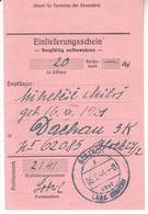 3855   SLOVENIJA    SORA-DACHAU 1944  EINLIFERUNGSSCHEIN - Slovénie