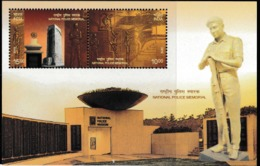 2018 MNH MINIATURE SHEET FROM INDIA /NATIONAL POLICE MEMORIAL /commemorates POLICE Personnel Who Lost Lives In Fights. - India