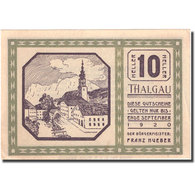 Billet, Autriche, Thalgau, 10 Heller, Village, 1920-09-01, SPL, Mehl:FS 1065a - Autriche
