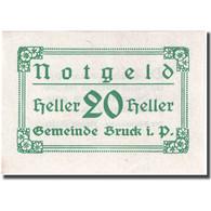 Billet, Autriche, Bruck, 20 Heller, Valeur Faciale 1920-12-31, SPL FS 107IIb - Autriche