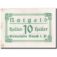 Billet, Autriche, Bruck, 10 Heller, Valeur Faciale 1920-12-31, SPL FS 107IIb - Autriche