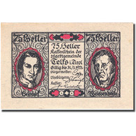 Billet, Autriche, Telfs, 75 Heller, Personnage 1921-01-31, SPL, Mehl:FS 1061a - Autriche