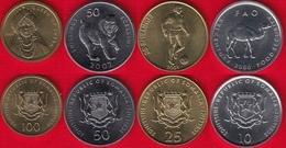Somalia Set Of 4 Coins: 10 - 100 Shillings 2000-2002 UNC - Somalia