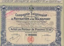 VIET-NAM-SAÏGONNAISE DE NAVIGATION ET DE TRANSPORT. DECO - Hist. Wertpapiere - Nonvaleurs