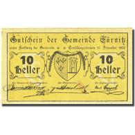 Billet, Autriche, Türnitz 10 Heller, Blason, 1920, 1920-12-31 SPL, Mehl:FS 1086a - Autriche