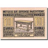 Billet, Autriche, Marchtrenk, 10 Heller, Table 1920-12-31, SPL, Mehl:FS 581b - Autriche
