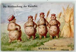 52924889 - Kartoffel Personifiziert Soldat Propaganda WK I Primuspostkarte - Ilustradores & Fotógrafos
