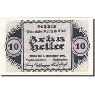Billet, Autriche, Reith, 10 Heller, Village, 1920, 1920-11-01, SPL, Mehl:FS 831a - Autriche