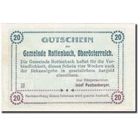 Billet, Autriche, Rottenbach, 20 Heller, Eglise 1921-01-31 SUP, Mehl:FS 851 Id - Autriche
