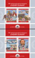 Togo  2018   Henry Dunant  Red Cross   ( 2 Sheetlets)    S201901 - Togo (1960-...)