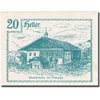 Billet, Autriche, Innerchwandt, 20 Heller, Chalet, 1920, 1920-06-02, SPL FS 408 - Autriche
