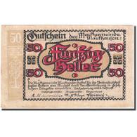 Billet, Autriche, Mauthausen, 50 Heller, Château 1920-12-31, SUP+ FS 601Ia - Autriche
