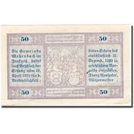 Billet, Autriche, Mehrnbach, 50 Heller, Monument 1920, 1920-12-31, TTB+ FS 604.3 - Autriche