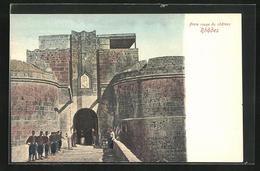 AK Rhodes, Porte Rouge Du Chateau - Griechenland