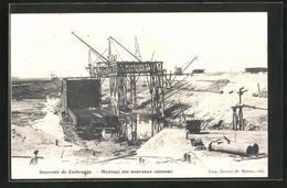 AK Zeebrugge, Montage Des Nouveaux Caissons - Zeebrugge