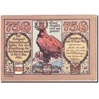 Billet, Autriche, Innsbruck, 75 Heller, Aigle 1920-12-31, SUP, Mehl:FS 412 Ia - Autriche