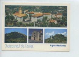 Piece Sur Le Theme De Multivues - Chateauneuf De Contes - Oblit En 2001 - France