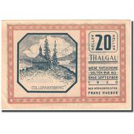 Billet, Autriche, Thalgau, 20 Heller, Eglise 1920-09-01, SPL, Mehl:FS 1065a - Autriche