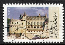 2015 Château D'Amboise Valeur Faciale : 0,68€ Timbre Usagee Architecture Renaissance En France - France