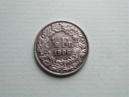 SUISSE  1/2  Franc  1906   --  SCHWEIZ - Zwitserland