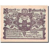 Billet, Autriche, Tullnerbach, 10 Heller, Monument 1920-06-15 SUP FS 1084 - Autriche