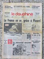 LE DAUPHINE LIBÉRÉ Du 22 Février 1988 Les XVèmes Jeux Olympiques D'hiver CALGARY Franck Piccard L'or En Super-géant* - Journaux - Quotidiens