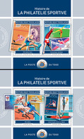 Togo  2018 Stamps On Stamps: History Of Sports Philately  ( 2 Sheetlets)    S201901 - Togo (1960-...)
