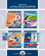 Togo  2018 Stamps On Stamps: History Of Sports Philately    S201901 - Togo (1960-...)