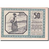 Billet, Autriche, Thalgau, 50 Heller, Personnage 1920-09-01 SPL, Mehl:FS 1065a - Autriche