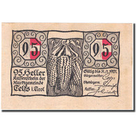 Billet, Autriche, Telfs, 95 Heller, épis, 1921, 1921-01-31, SPL, Mehl:FS 1061a - Autriche