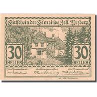 Billet, Autriche, Zell Arzberg, 30 Heller, Manoir, 1920, 1920-12-31, SPL FS 1273 - Autriche