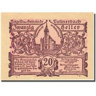 Billet, Autriche, Tullnerbach, 20 Heller, Eglise 1920-06-15, SPL, Mehl:FS 1084 - Autriche
