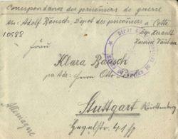 WWI PRIGIONIERI POW CAMP CETTE SETE FRANCIA 1916 GERMAN POW STUTTGART BIS - 1900-44 Victor Emmanuel III.